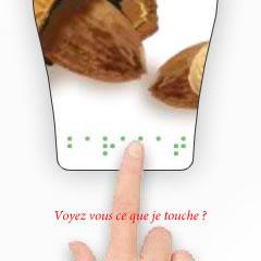Etiquette adhésive tactile / en braille